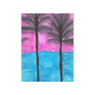 Impressão tropical da arte das canvas da fuga