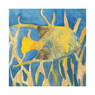 impressão tropical da arte das canvas do quadrado  impressão de canvas esticada