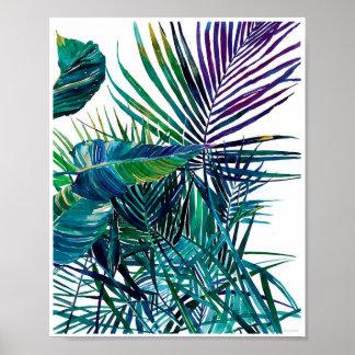 Impressão tropical da arte das folhas