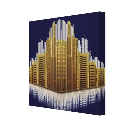 Impressão urbano 2 das canvas das reflexões impressão de canvas envolvida