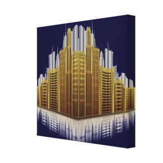 Impressão urbano 2 das canvas das reflexões impressão em tela