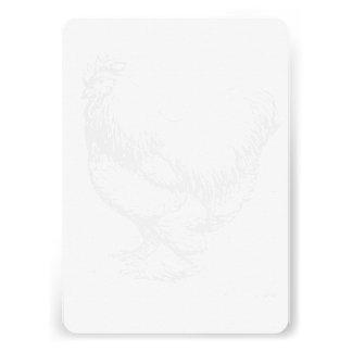 Impressão vazio da imagem da galinha seu próprio convite personalizado