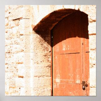 Impressão velho da porta do arco