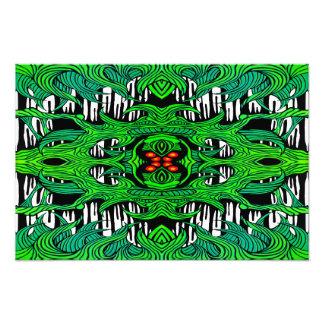 impressão verde da foto do monstro