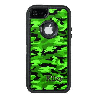 Impressão verde & preto de néon da camuflagem