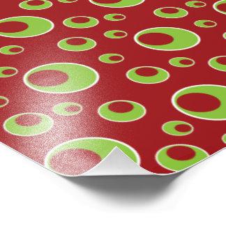 Impressão verde vermelho da foto do fundo do teste