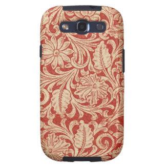 Impressão vermelha floral da galáxia S3 de Samsung Capa Personalizadas Samsung Galaxy S3