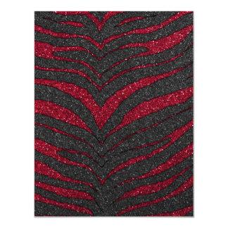 Impressão vermelho da zebra do brilho convites