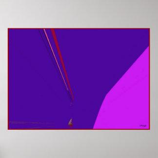 Impressão vermelho do poster do Expressionism