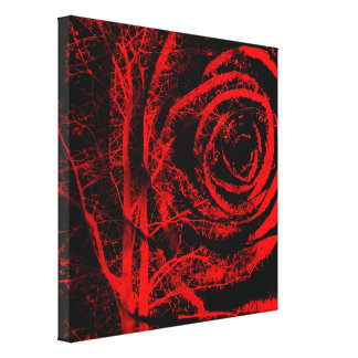 Impressão vermelho e preto bonito das canvas do