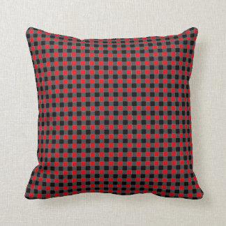 Impressão vermelho e preto dos quadrados do almofada