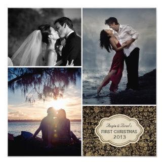 Impressão Wedding personalizado da colagem da foto
