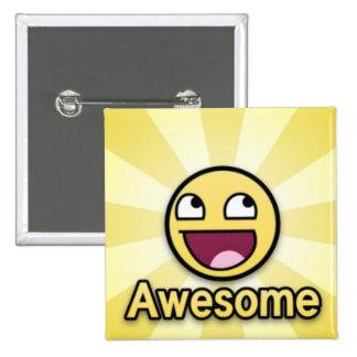 impressionante… com um sorriso!!!! bóton quadrado 5.08cm