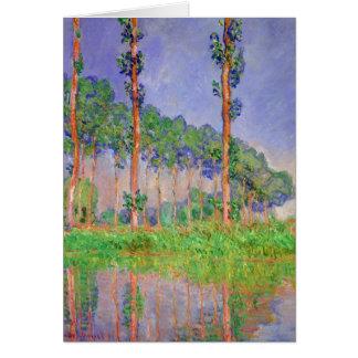 Impressionismo das árvores de álamo pelo cartão de