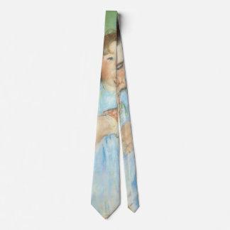 Impressionismo, mãe e criança do vintage por gravata
