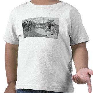 Impressment de marinheiros americanos camiseta