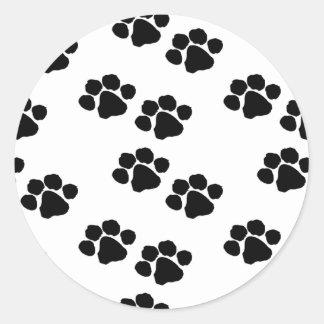 Impressões animais da pata adesivo redondo