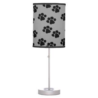 Impressões animais da pata luminária de mesa