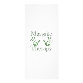 Impressões da mão da terapia da massagem 10.16 x 22.86cm panfleto