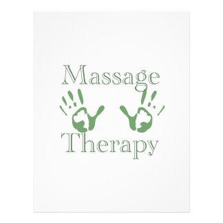Impressões da mão da terapia da massagem panfleto coloridos