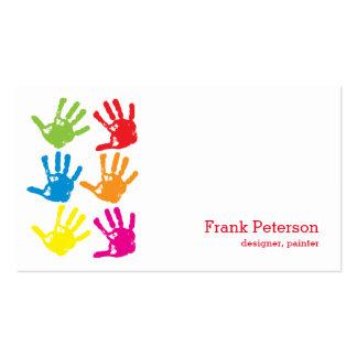 Impressões da mão - desenhista, pintor cartão de visita
