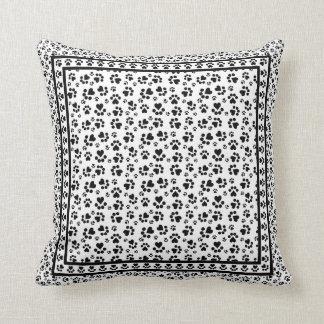 Impressões da pata - caixa preto e branco do amant travesseiros