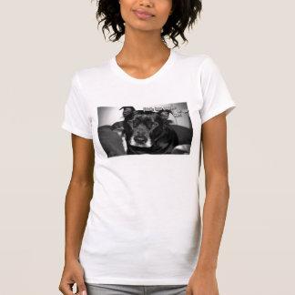Impressões da pata da licença de Pitbulls T-shirts