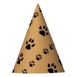 Impressões da pata do filhote de cachorro chapéu de festa