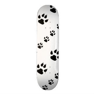 Impressões da pata do filhote de cachorro shape de skate 18,7cm