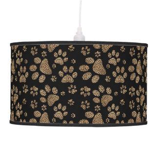 Impressões da pata do ponto do leopardo luminária de teto