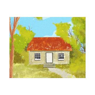 impressões das canvas da casa da vila impressão de canvas envolvida