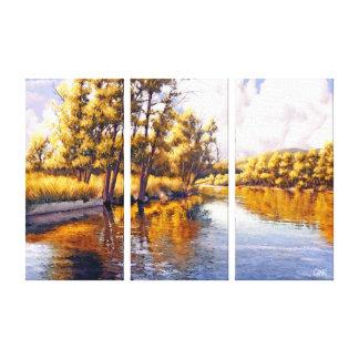 Impressões das canvas de pintura do cenário do rio