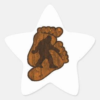Impressões de Bigfoot Adesito Estrela