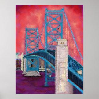 Impressões de Philly (ponte de Ben Franklin no