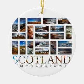 Impressões de Scotland Ornamento De Cerâmica Redondo