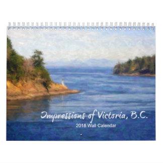 Impressões de Victoria, calendário B.C. 2018