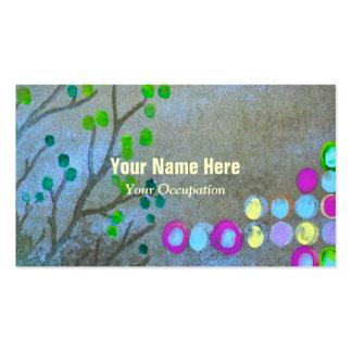 Impressões digitais & galhos cartão de visita