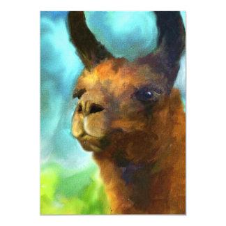Impressões do retrato 5x7 do lama mini convite 12.7 x 17.78cm