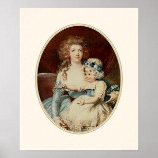 Impressões dos posters da arte Rococo & trabalhos