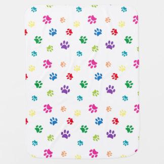 Impressões pintados arco-íris da pata cobertor de bebe