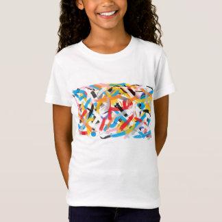 Impressões positivas Splah do t-shirt Funky da cor Camiseta