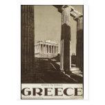 Impressões retros do anúncio do poster das viagens cartoes postais