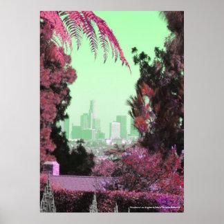 Impressões retros do poster de Los Angeles das bel