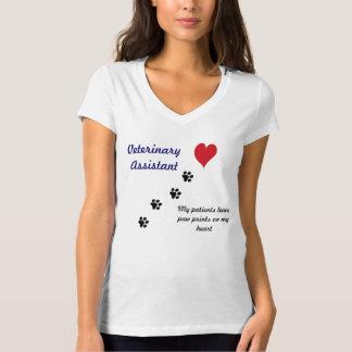 Impressões veterinários da Assistente-Pata em meu Camiseta