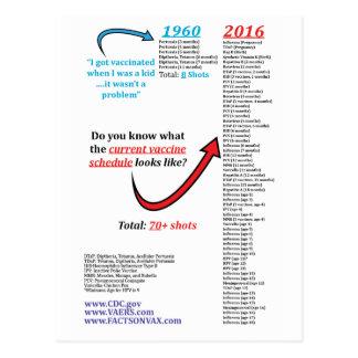 Imunização 2016 vacinal do tiro da programação do cartão postal