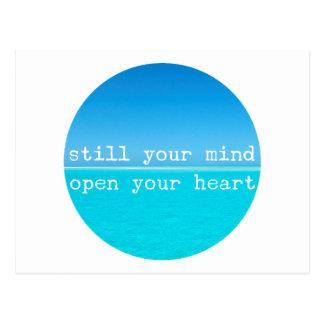 Inale expiram citações de relaxamento da meditação cartão postal