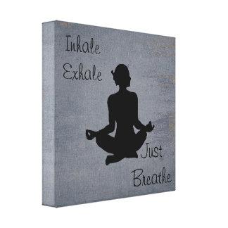 Inale expiram  -- Impressão inspirado ioga das