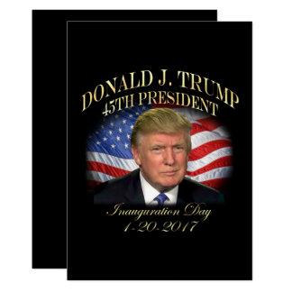 Inauguração do presidente Donald Trump Convite 12.7 X 17.78cm