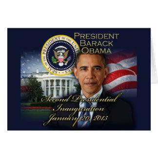 Inauguração do presidente Obama ?a Cartão Comemorativo