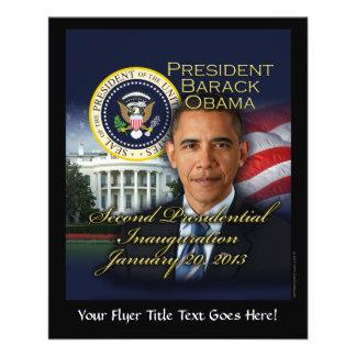 Inauguração do presidente Obama ?a Panfletos Personalizados
